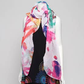 長方形スカーフ (ホワイト)