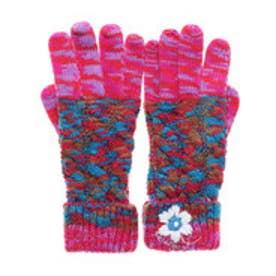 手袋 MIX AND TWIST (ピンク/レッド)