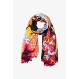 長方形スカーフ INDIAN PASLEY (グレー/ブラック)