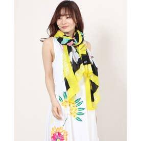 スカーフ SPORTY FLOWER (グレー/ブラック)