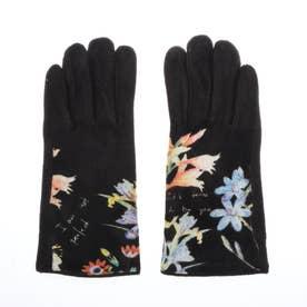 手袋 FLOWERISH (グレー/ブラック)