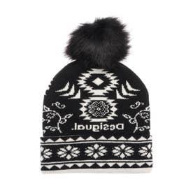 帽子 ETHNIC REVERSIBLE (グレー/ブラック)