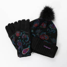 ニット帽 手袋 ANUBIS (グレー/ブラック)