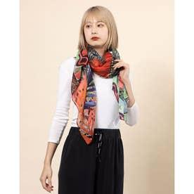 スカーフ FOU PITAHAYA (ピンク/レッド)