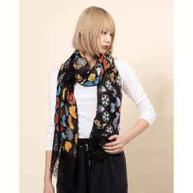 スカーフ BUTTERFLY GALACTIC (グレー/ブラック)