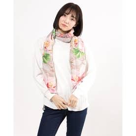 スカーフ FLOWER VALKIRIA RECTANGLE (オレンジ)