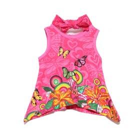 Tシャツ袖なし (ピンク/レッド)