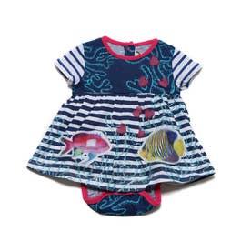 ドレスショート袖 (ブルー)