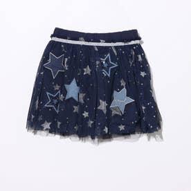 スカートワンピース STAR (ブルー)