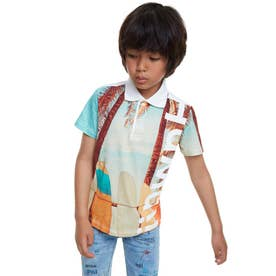 ポロシャツ半袖 JEN-FANES (ブルー)