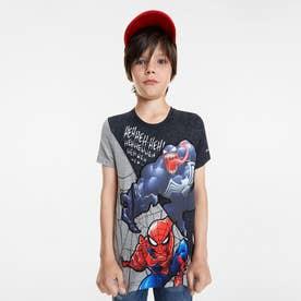 Tシャツ半袖 SPIDER (グレー/ブラック)