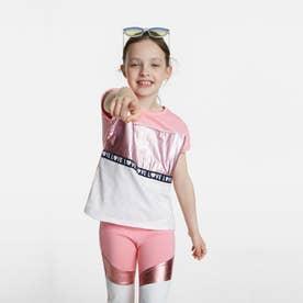 Tシャツ半袖 GRACIA (ピンク/レッド)