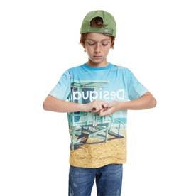 Tシャツ半袖 ANGEL (ブルー)