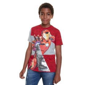 Tシャツ半袖 JURGEN (ピンク/レッド)