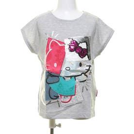 Tシャツ半袖 HELLO (グレー/ブラック)