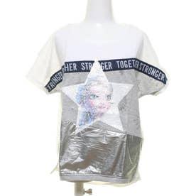 Tシャツ半袖 SNOW (ホワイト)