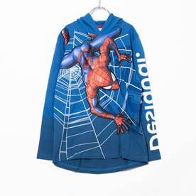 Tシャツ長袖 AMAZING (ブルー)
