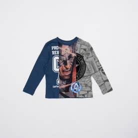 Tシャツ長袖 AMERICA (ブルー)