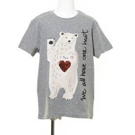 Tシャツ半袖 POLARBEAR (グレー/ブラック)