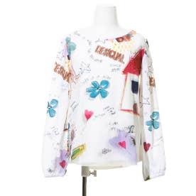 Tシャツ3/4袖 GRACIA (ホワイト)