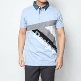 ポロシャツショート袖 (ブルー)
