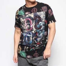 Tシャツ半袖 SCARF (グレー/ブラック)