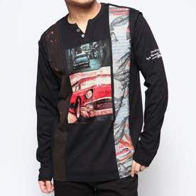 Tシャツ長袖 ALI (グレー/ブラック)