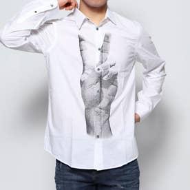 シャツ長袖 GAD (ホワイト)