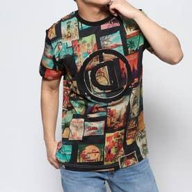 Tシャツ半袖 LOGAN (グレー/ブラック)