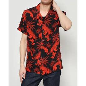 シャツ半袖 CYLAN (レッド/ブラック)