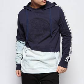 Tシャツ長袖 KWAN (ブルー)