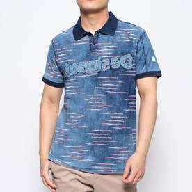 ポロシャツ半袖 BEAU (ブルー)