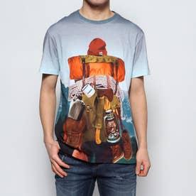 Tシャツ半袖 MONTAIN (グレー/ブラック)