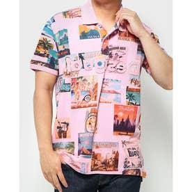 ポロシャツ半袖 BENEDICT (ピンク/レッド)
