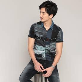 ポロシャツ半袖 REI (ブルー)