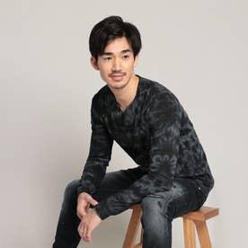 Tシャツ長袖 COSME (グレー/ブラック)