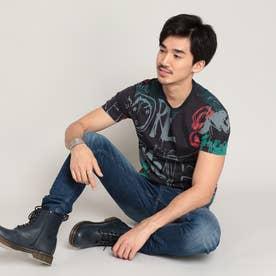 Tシャツ半袖 IAN (ブルー)