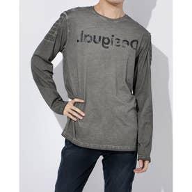 Tシャツ長袖 HUGO (グレー/ブラック)