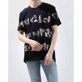 Tシャツ半袖 CAIN (グレー/ブラック)