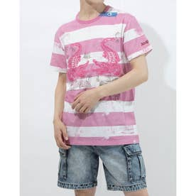 Tシャツ半袖 CECIL (ピンク/レッド)