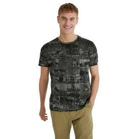 メンズ Tシャツ半袖 JUALIAN (グレー/ブラック)