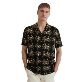 メンズ シャツ半袖 SEBASTIAN (グレー/ブラック)