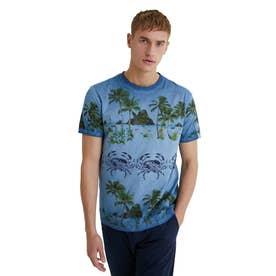 メンズ Tシャツ半袖 VICTOR (グレー/ブラック)