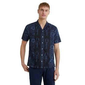 メンズ シャツ半袖 PACIFICO (ブルー)