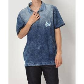 メンズ ポロシャツ半袖 FEID (ブルー)