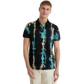 メンズ ポロシャツ半袖 SURESH (グレー/ブラック)