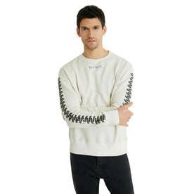 ファスナー スウェットシャツ (ホワイト)