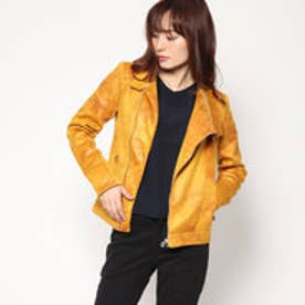 WOMAN WOVEN PU COAT (Yellow)