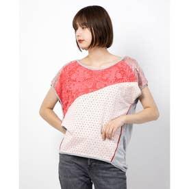 Tシャツショート袖 (ピンク/レッド)