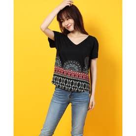 Tシャツショート袖 (グレー/ブラック)